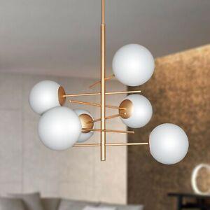 Modern Chandelier 6 Lights With Spheres Glass Blown Matt Ø20 Model Bubbles