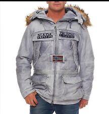 NAPAPIJRI Hombres Cuero Skidoo con capucha Parka/Abrigo/Chaqueta Marina Cyl 176 € 1700 XL