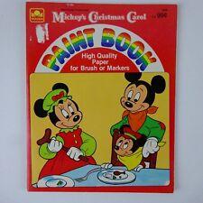 Disney's Mickey's Christmas Carol 1983 Paint Book