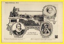 cpa Rare PARIS Historique Le PONT NEUF HENRI IV Gabrielle d'ESTREES et RAVAILLAC