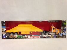 Kenworth W900 w/Belly Dump Trailer, Collectible,1:32 Diecast, New Ray Toy,Yellow