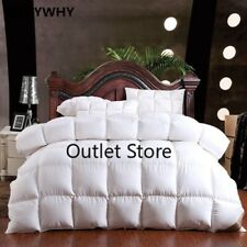 100% Goose Down Winter Quilt Comforter Blanket Duvet Filling Cotton   Cover