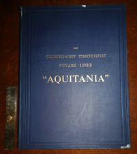 1914 AQUITANIA The Quadruple-Screw Turbine-Driven Cunard Liner Illustrated Photo
