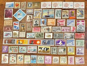 [Lot 344] 100 Assorted Worldwide Stamp Collection Off Paper - All Stamps Shown!