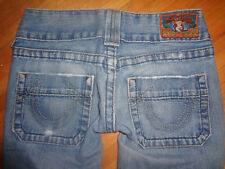 True Religion Sammy boot cut jeans 24 light distressed wash RARE