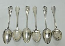 Antique French 950 Silver Mo Delacquis & Cie Set of 6 Teaspoons 1882