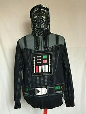 Darth Vader Star Wars Full Zip Head Mask Mens Hoodie Large Black Jacket Costume