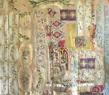 Antique Beautiful Late 18th, 19th French Aubusson Hand Woven Patchwork Fabric