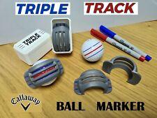 Callaway Triple Track Golf Ball Line Marker Stencil Chrome Soft Work on Any Ball