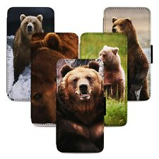 Bears Nature Animals Flip Phone Case Cover Wallet - Fits Iphone 5 6 7 8 X 11