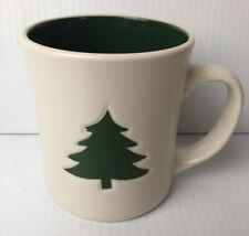 STARBUCKS Coffee Mug White Christmas Tree Spell-Out 12 OZ 2008