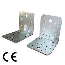 100 Winkelverbinder Lochwinkel Bauwinkel verzinkt 90 x 90 verstärkt mit CE