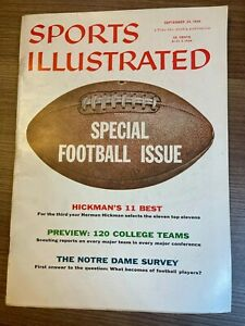 1956 Sports Illustrated FOOTBALL ISSUE (NO LABEL) 09/24/1956