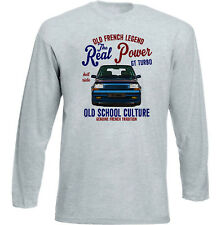 VINTAGE FRENCH CAR RENAULT 5GT TURBO - NEW COTTON T-SHIRT