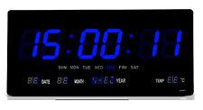 Digitaluhr digital wanduhr Wohnzimmer Wanduhr Küchenuhr 2008 in Blau