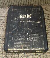 AC/DC Back In Black 8 track tape tested CLASSIC ROCK METAL - LATE NITE BARGAIN