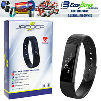 Fitness Tracker Watch Jaeger Alta PRO Black HR Heart Rate Sleep Step Smart Track