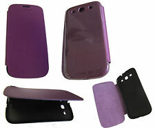 For Samsung Galaxy S3 III i9300 Front Flip Back Battery Cover Case Purple UK