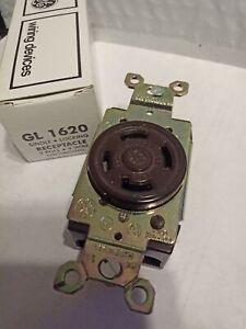 GE GL1620 20AMP 480V  3P 4W GRNDING.SINGLE LOCKING RECEPTACLE L16-20R  NIB
