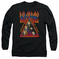 Def Leppard HYSTERIA TOUR 1987 Vintage Style Adult Long Sleeve T-Shirt S-3XL