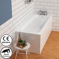 1700 x 700mm Single Ended Straight Acrylic Bathtub Front End Panel Screen Waste