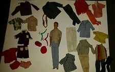 Vintage 1960's Mattel Barbie Ken's Buddy Allan with lots of clothes rare deal