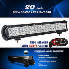20INCH 126W CREE LED WORK LIGHT BAR COMBO JEEP LIGHTS CAR OFFROAD SUV ATV TRUCK