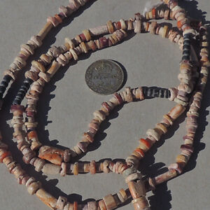 28.5 inch 73cm strand ancient tiny pre columbian shell beads #118