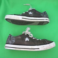 Converse One Star women's fashion walking canvas casual gray shoes size-4