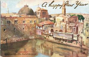 Jerusalem, Pool of Hezckiah, Tucks Card - Postcard (B11)