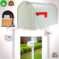 Large Rural Mailbox Oversize Street Roadside Post White Big Mail-box Postal Mail