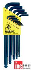 "Bondhus BLX13 13pc AF Imperial Ballpoint Allen Llave Hexagonal Conjunto 1/16-3/8"" Ball End"