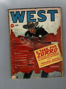 WEST MAGAZINE - Vol. 65-  No. June 1947  - 15c - Zorro