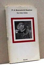 LA ROSA ROSSA - P. A. Q. Gambini [Libro, Einaudi editore]