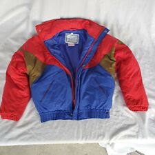 Freestyle Ski Jacket Womens Size 12 Blue Green Red Puffer 1990s