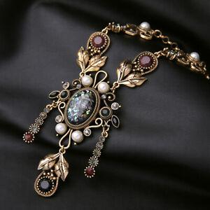 New Fashion Betsey Johnson Rare Alloy Rhinestone Retro Flower Necklace Pendants