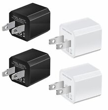 USB Wall Charger, 4-Pack Universal 5V/1A Mini Portable Travel Adapter High Sp...