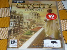 PC DVD ROM CIV CITY ROME NEW sealed RARE Win XP 2000 French 12+