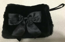 Baby Gap Girl's Bow Detail Faux-Fur Hand Muff w/Zip Pocket Black One Size