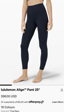 """Lululemon Align Pants II 25"""" HIGH RISE Navy Nulux Fabric Size 6 NWT!!! Deal!"""