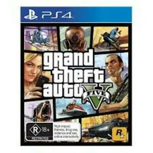 Grand Theft Auto 5 GTA V (PS4) FREE POST+TRACKING  GOOD / INC/ MANUAL/MAP