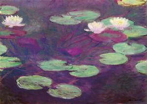 Claude Monet - A4 size 21x29.7cm QUALITY Decor Canvas Art Print Poster Unframed