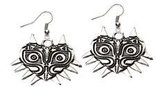 The Legend of Zelda Majoras Mask Dangle Earrings W/Gift Box Usa Seller