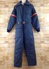 Vtg 70s 80s JcPenney Men Medium Blue One Piece Insulated Snowmobile Snowsuit USA