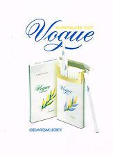 PUBLICITE ADVERTISING 094  1989  VOGUE  cigarettes