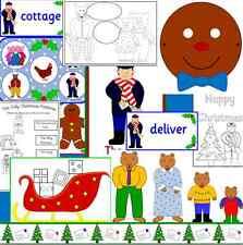 The Jolly Christmas Postman -Teaching resource on CD -story sack- childminder