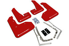 Rally Armor Mud Flaps Guards for 15+ VW Golf R MKVII (Red w/White Logo)