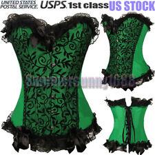 Women Overbust Steampunk Plus Size Dress Corset Bustier Top SEXY Lingerie Shaper