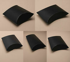 Pack of 12 Matt Black Gift Pillow Box Boxes Wedding Favour Wholesale Party Box