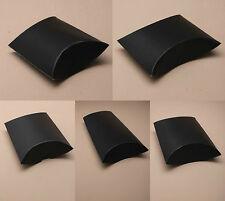 Pack of 12 Matt Black Gift Pillow Box Boxes Wedding Favour Wholesale Party Box